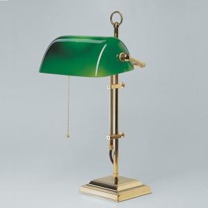 Bankerlampe grün Berliner Messing