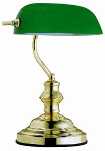Bankerlampe Grün Globo