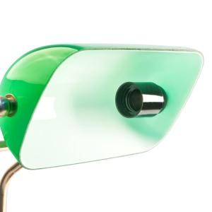 Bankerlampe Grün Relaxdays